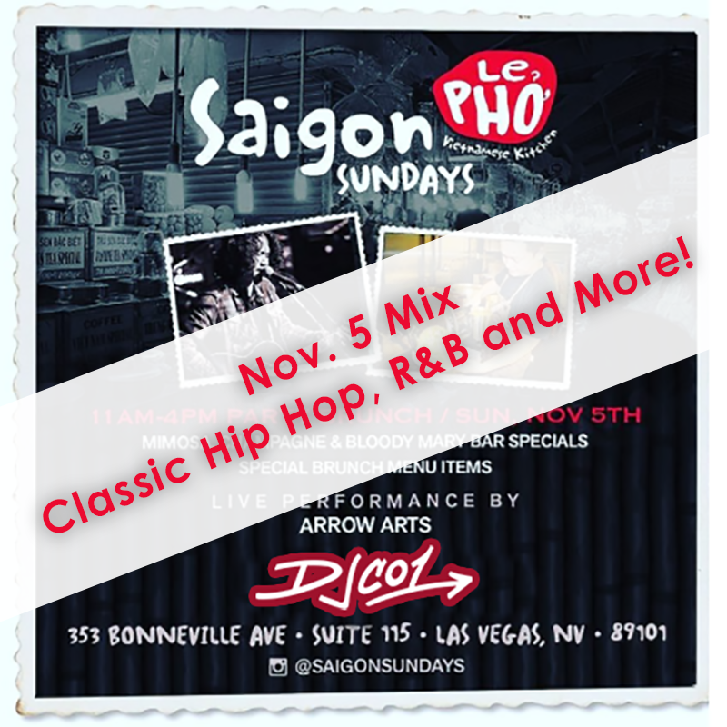 Live at Saigon Sundays – Nov 5th – DJ CO1 – Official Site