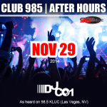 Nov 29 – Club 985 After Hours – Archive