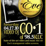 Eve Night Club – Sat. April 17